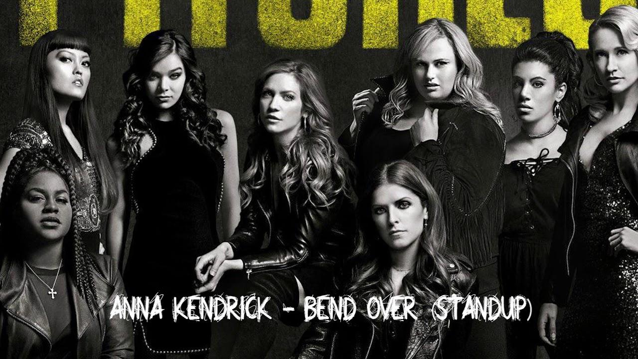 Girls standing bent over