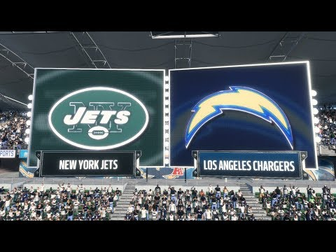 Madden NFL 18 - New York Jets vs Los Angeles Chargers (1080p60fps)