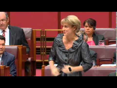 Richard Di Natale asks Michaelia Cash a question in the Senate about spying allegations