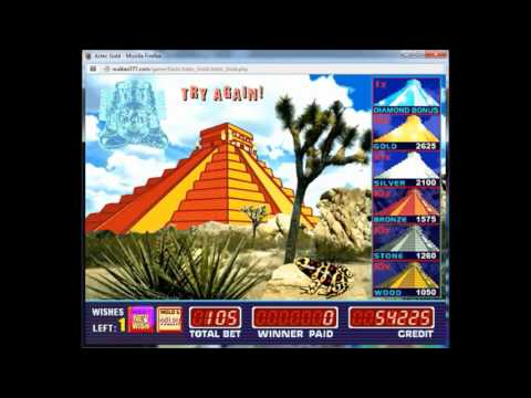 Aztec Gold Бонусная игра, риск игра, особые символы