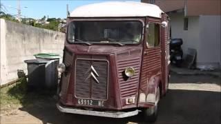 Citroën Type H, premiers démarrages manivelle, Nouméa, Nouvelle-Calédonie