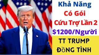Khả Năng Có Gói Cứu Trợ Lần 2 cho $1200/Người-TT Trump Đồng Tình ll Chuyện Gì HOT?