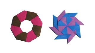 Origami Ninja Star (shuriken) - Super Easy - How to Make an easy Transforming Ninja Star