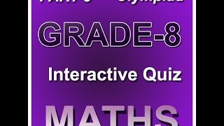 Class 8 maths olympiad interactive study online