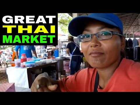 THAILAND MARKET The hustle & bustle of a rural Thai market - Rural life Thailand Homestead THAI VLOG