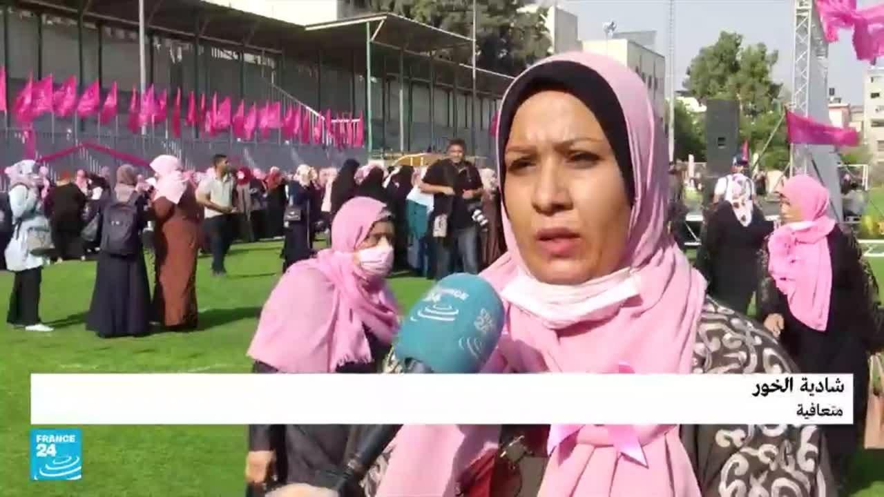 -أكتوبر الوردي- حافلة الكشف المبكر عن سرطان الثدي تجول في شوارع وأزقة غزة  - 18:55-2021 / 10 / 19