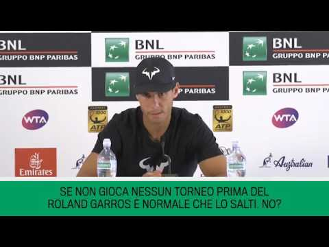 Rafael Nadal Pre-tournament press conference at 2017 Rome Masters