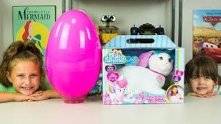 HUGE Pink Girl Surprise Egg Surprise Toys Bunny Surprise Toy Shopkins My Little Pony Kinder Playtime