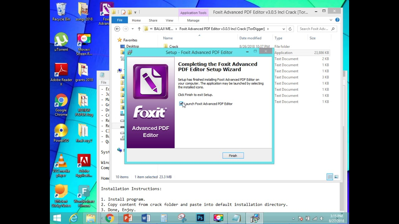 foxit advanced pdf editor torrent download