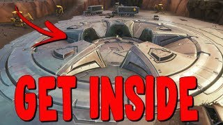 How To Get Inside The Loot Lake Space Ship? New Loot Lake Bunker/UFO In Fortnite Season 8