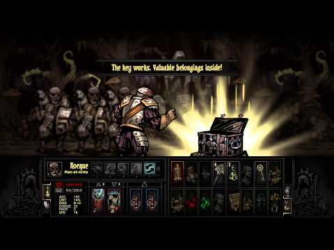 Darkest Dungeon - 4 Man-at-Arms Gameplay (Level 5, Torchless)