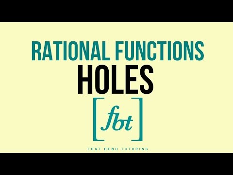 Rational Functions: How to Find and Graph Holes [fbt]