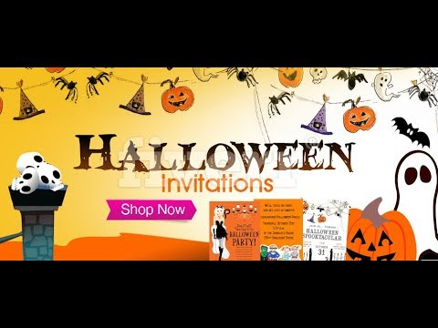 halloween invitations how to order online at polka dot design youtube