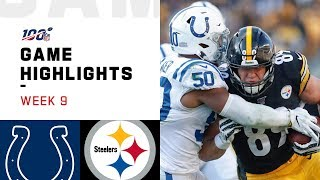Colts vs. Steelers Week 9 Highlights | NFL 2019