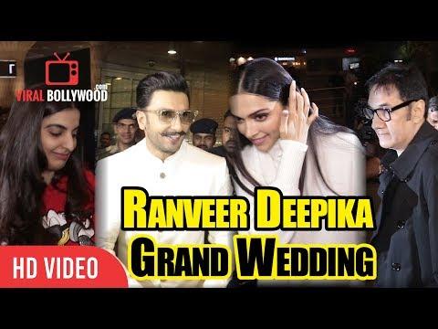 Ranveer-Deepika And Ranveer's Family FLY to Italy For Ranveer Deepika Grand Wedding