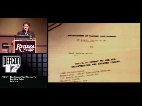 Jason Scott - That Awesome Time I Was Sued for Two Billion Dollars - Video and Slides