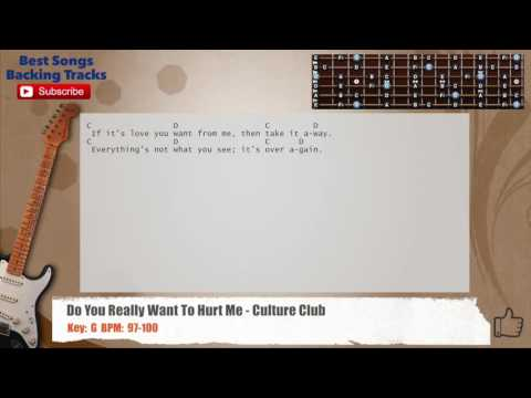 Do You Really Want To Hurt Me - Culture Club Guitar Backing Track with chords and lyrics