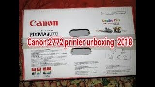 Canon 2772 printer unboxing 2018    BD Twist