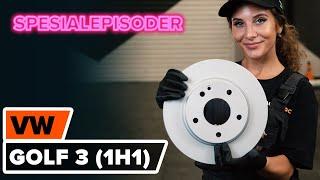 Hvordan skifte Bremseskiver på VW GOLF III (1H1) - videoguide
