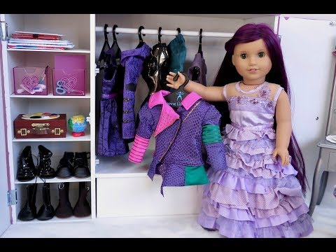 American Girl Doll Disney Descendants Mal's Bedroom