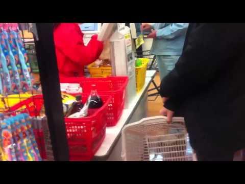 Japonya'da market alışverişi