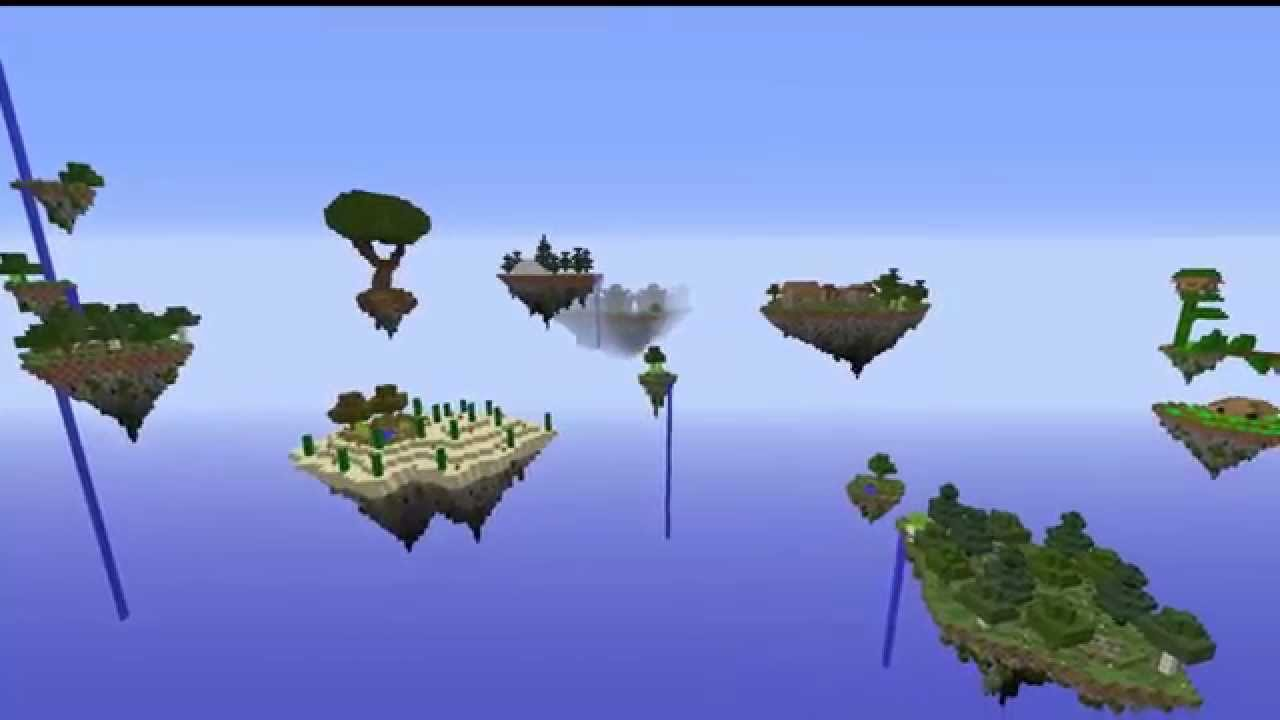 Ile Volante îles volantes | map aventure minecraft - youtube