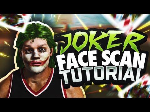 OMG JOKER FACE SCAN GLITCH TUTORIAL 😱 HOW TO LOOK LIKE THE JOKER IN NBA 2K17 MyPARK!