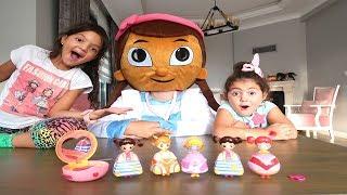 Doc McStuffins'dan Büyük Sürpriz! Kids Pretend Play with Makeup Play Kekilou Toys, Fun kids video