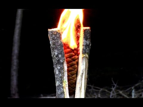 Survival- Emergency Tree Resin Torch