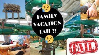FAMILY VACATION FAIL: MT OLYMPUS/WISCONSIN DELLS JAN2019