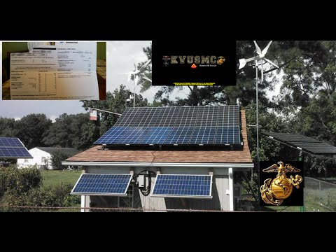 Solar And Wind Home Power  2 kWh Power Bill January 2016 BY