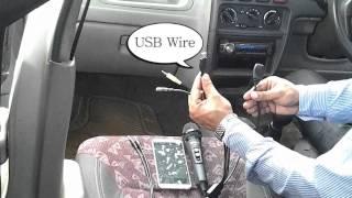 Singing Karaoke or Singalong in your Car using the MeraGana Wonder Mixer Microphone
