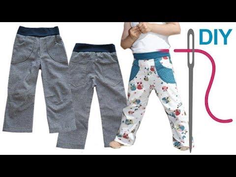 klassischer Stil noch eine Chance schöner Stil Hose nähen für Anfänger – DIY Kinderhose