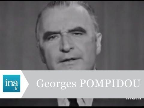 Georges Pompidou, candidat à la Présidence de la République 1969  - Archive vidéo INA