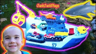 Matchbox Shark Ship Toy Unboxing - Kids Playing with Toy Trucks