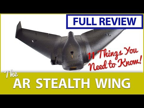 FULL REVIEW: AR Stealth Wing LOS & FPV Maidens + 11 Things YOU NEED to Know About this FPV Wing