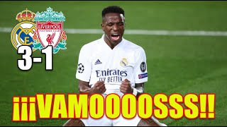 ¡¡VAMOOOSS!! Real Madrid 3-1 Liverpool | Champions League