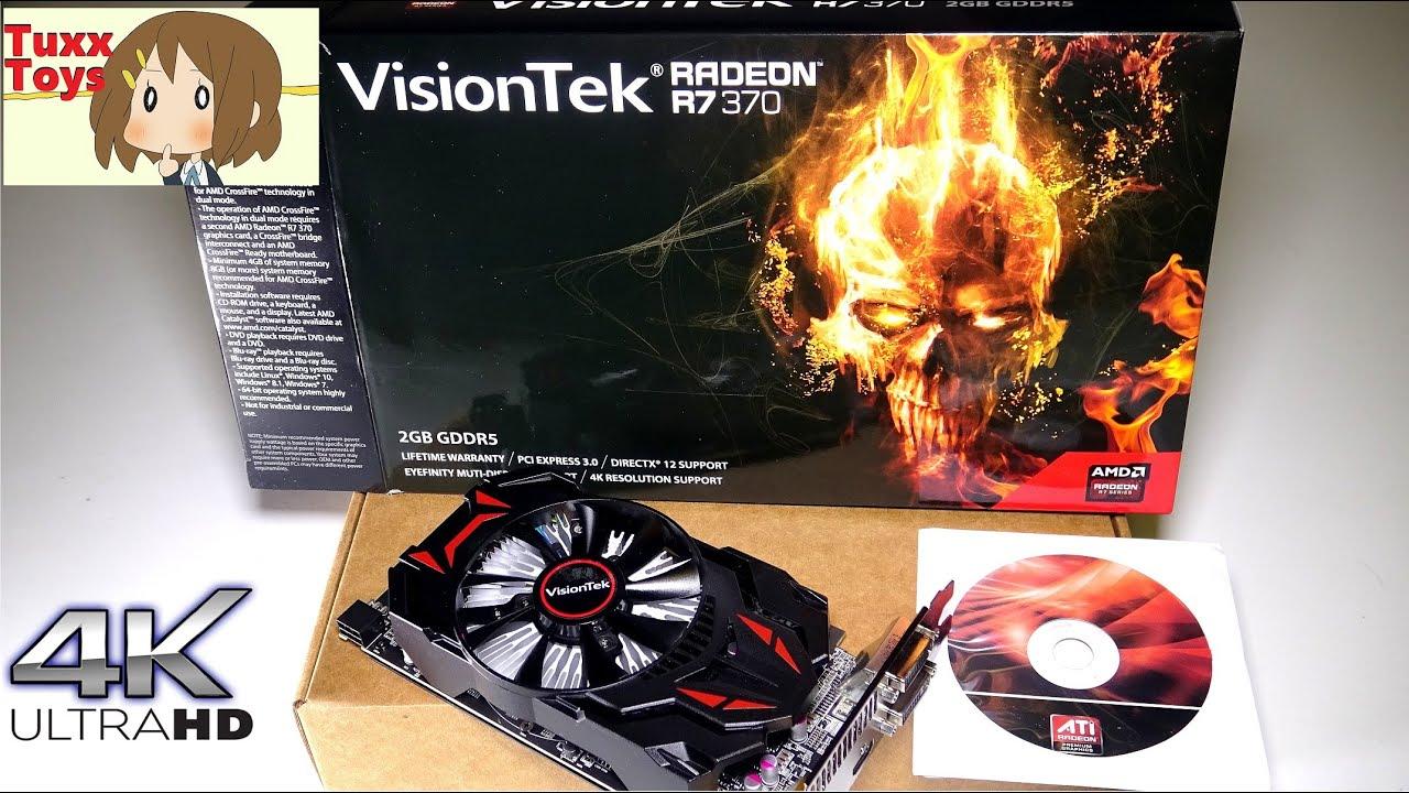 Unboxing: VisionTek Radeon R7 370 2GB GDDR5 - Best 4K video card? Unboxing