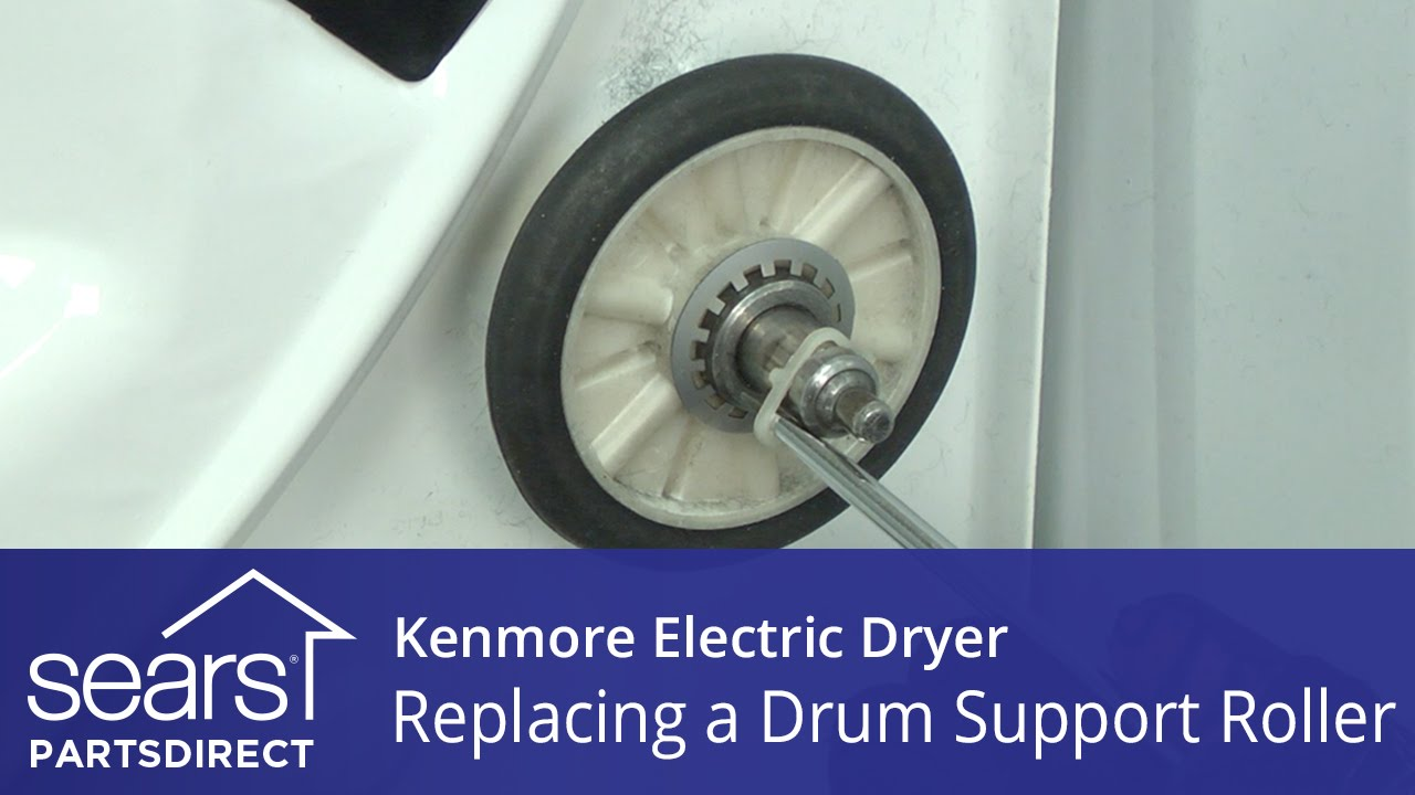 How To Replace A Kenmore Electric Dryer Drum Support