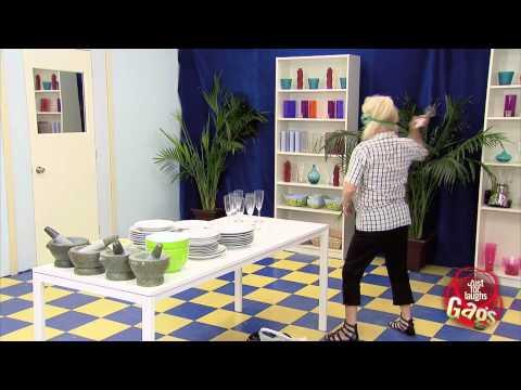 JustForLaughsTV - Breaking Dishes On Fake Mirror Prank