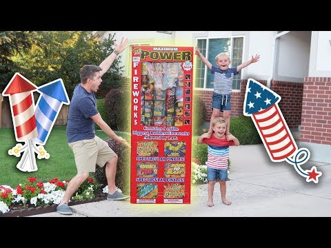 GIANT FAMILY FIREWORKS! (Watch OUT!)