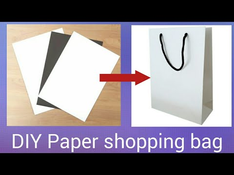 DIY  EASY  SHOPPING BAG WITH PAPER