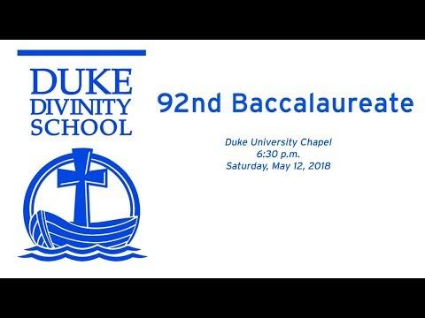 Duke Divinity School's 92nd Baccalaureate