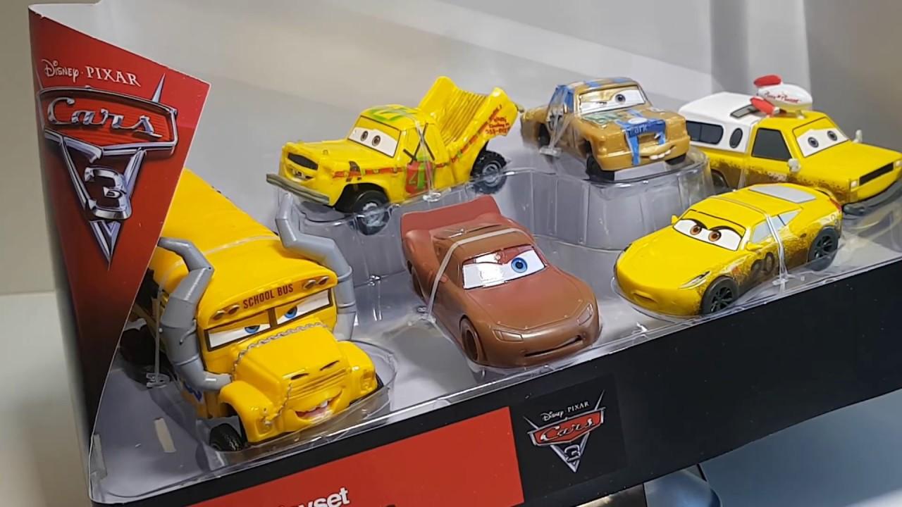 disney cars 3 disney pixar cars 3 crazy 8s figurine set new disney cars 3 movie youtube. Black Bedroom Furniture Sets. Home Design Ideas