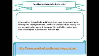 How to remove Air Globe automatically from your windows PC