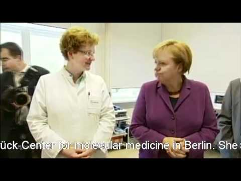 Angela Merkel visits the Max-Delbrück-Center for molecular medicine in Berlin