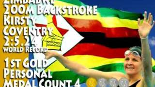 Kirsty Coventry 200m Backstroke Zimbabwe 1st Gold