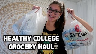 Healthy College Student Grocery Haul // Weight Loss Journey