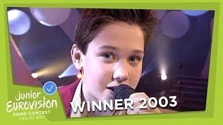 JUNIOR EUROVISION 2003: DINO JELUSIĆ - TI SI MOJA PRVA LJUBAV - CROATIA 🇭🇷  - WINNER