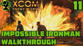 First Terror Mission - XCOM Enemy Within Walkthrough Ep. 11 [XCOM Enemy Within Impossible Ironman]